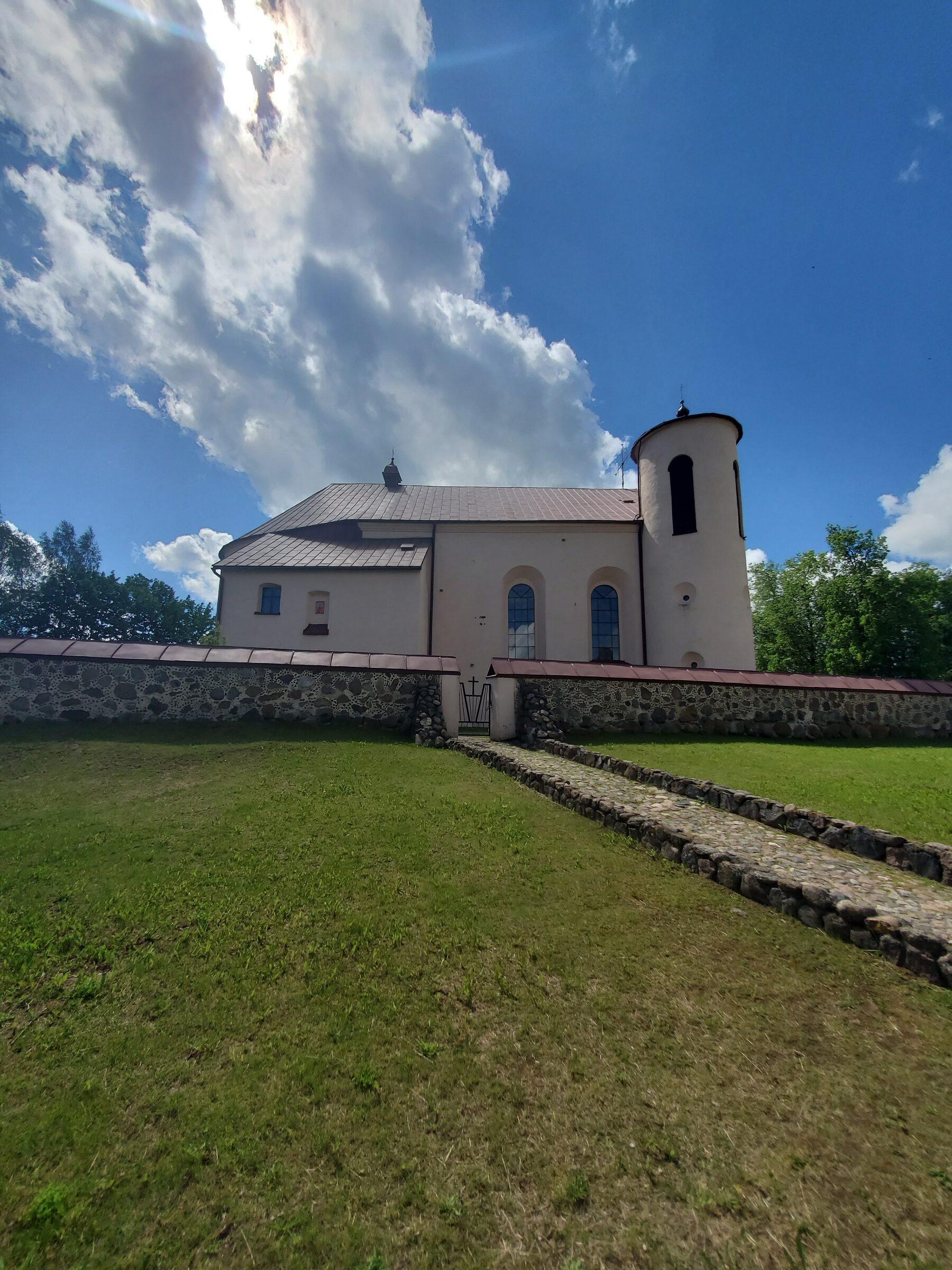 20200606 115753 rotated - Костел Св. Иоанна Крестителя в агрогородке Камаи