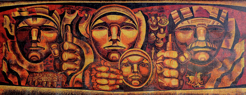 Мозаичное панно «Партизаны» 2