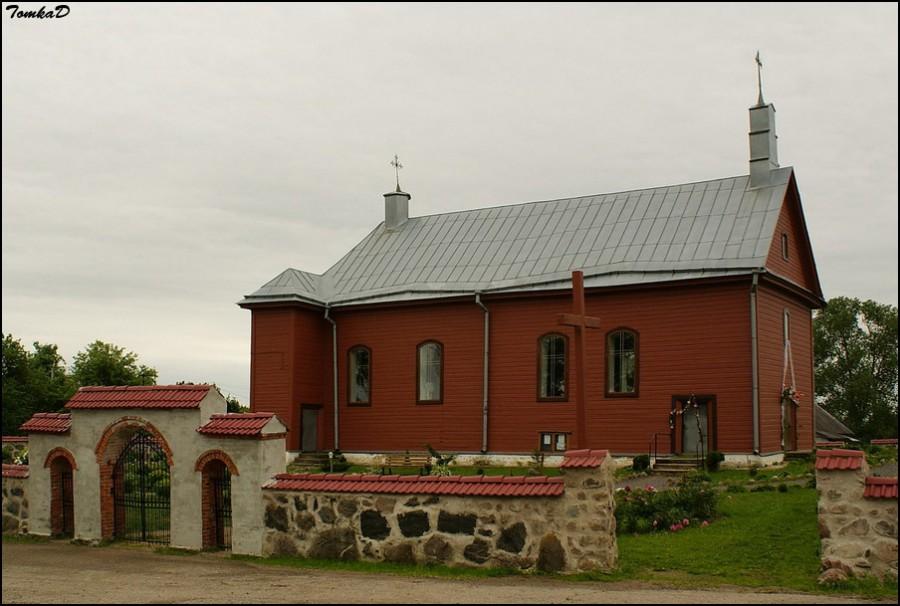Novyj Pogost kostel 1 - Троицкий костел в деревне Новый Погост