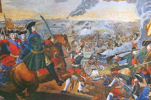 Картина - северная война со шведами