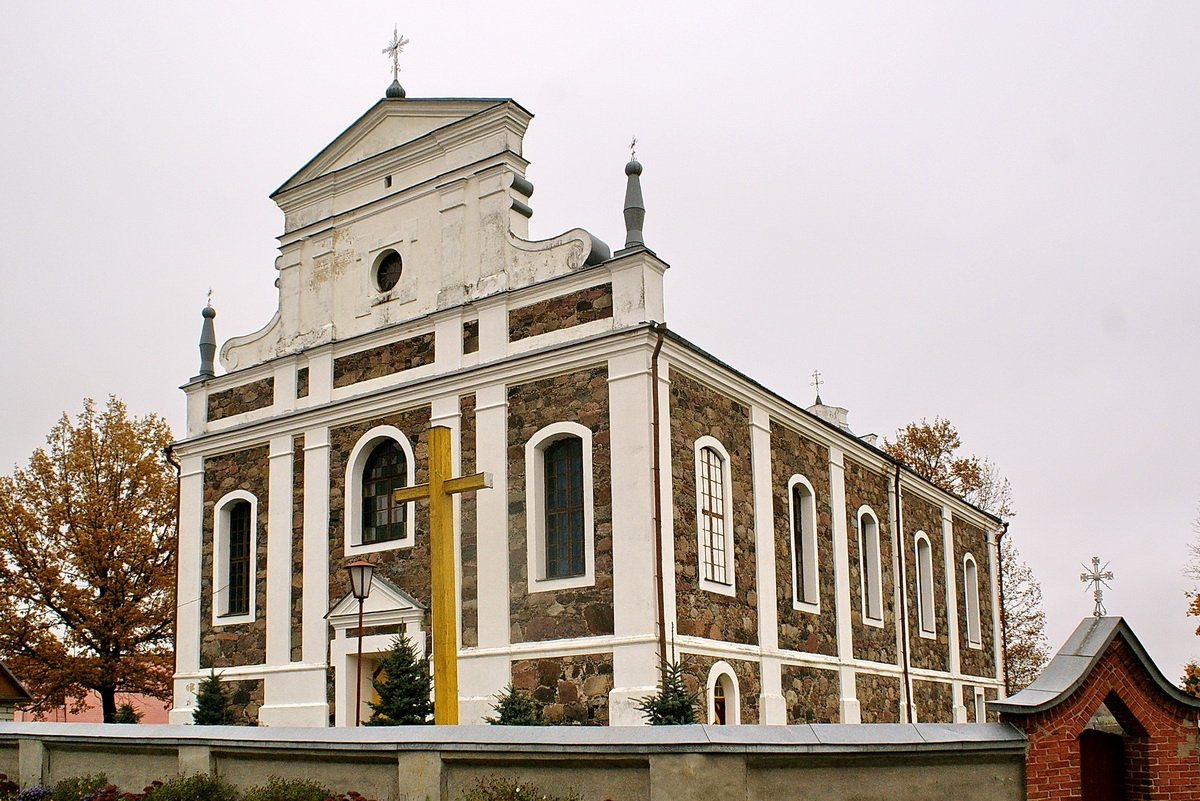 Volkolata kostel 1 - Костел Святого Иоанна Крестителя в деревне Волколата